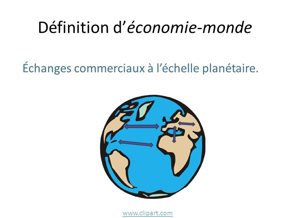 Définition d'économie-monde Échanges commerciaux à l'échelle planétaire. www.clipart.com