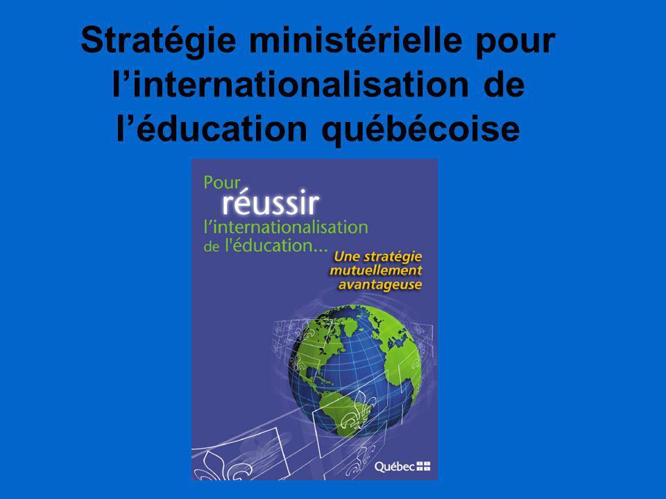 Stratégie ministérielle pour l'internationalisation de l'éducation québécoise