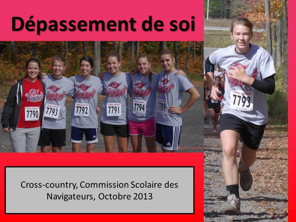 Dépassement de soi Cross-country, Commission Scolaire des Navigateurs, Octobre 2013