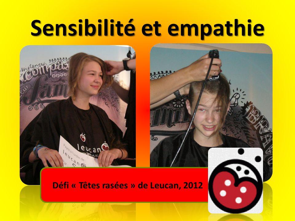 Sensibilité et empathie Défi « Têtes rasées » de Leucan, 2012