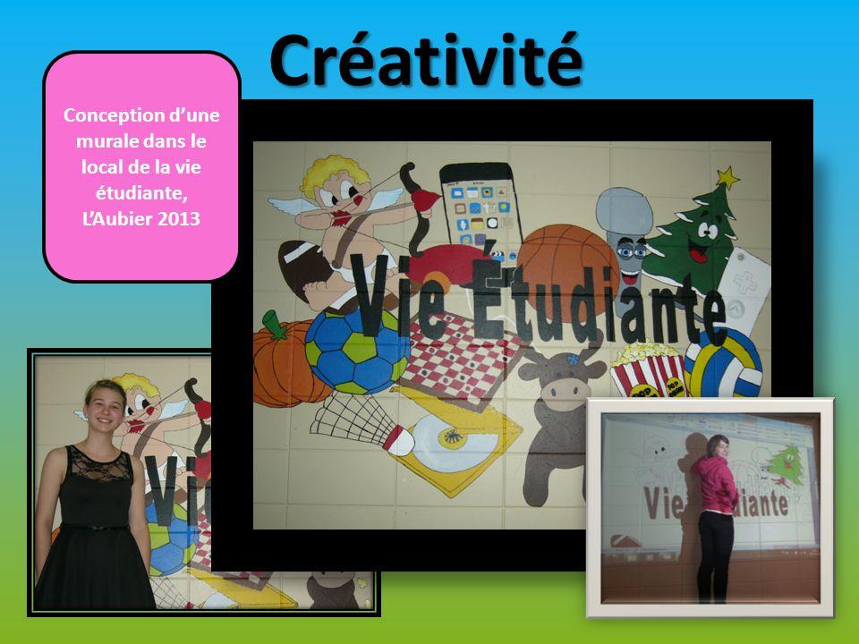 Créativité Conception d'une murale dans le local de la vie étudiante, L'Aubier 2013