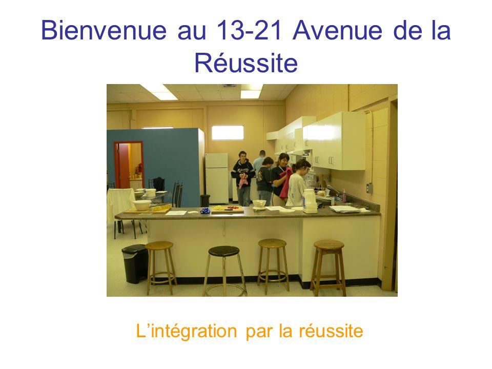 Bienvenue au 13-21 Avenue de la Réussite L'intégration par la réussite