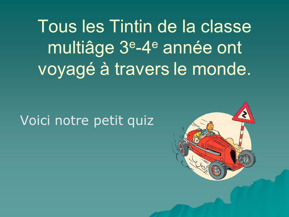 Tous les Tintin de la classe multiâge 3 e -4 e année ont voyagé à travers le monde.