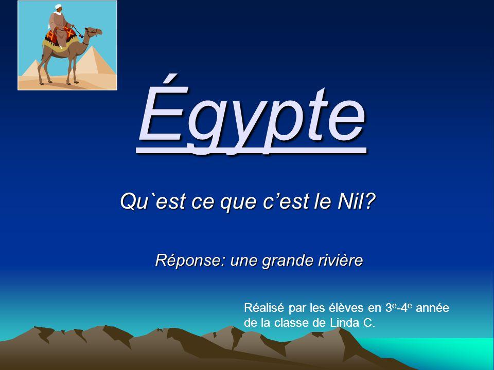 Égypte Qu`est ce que c'est le Nil.