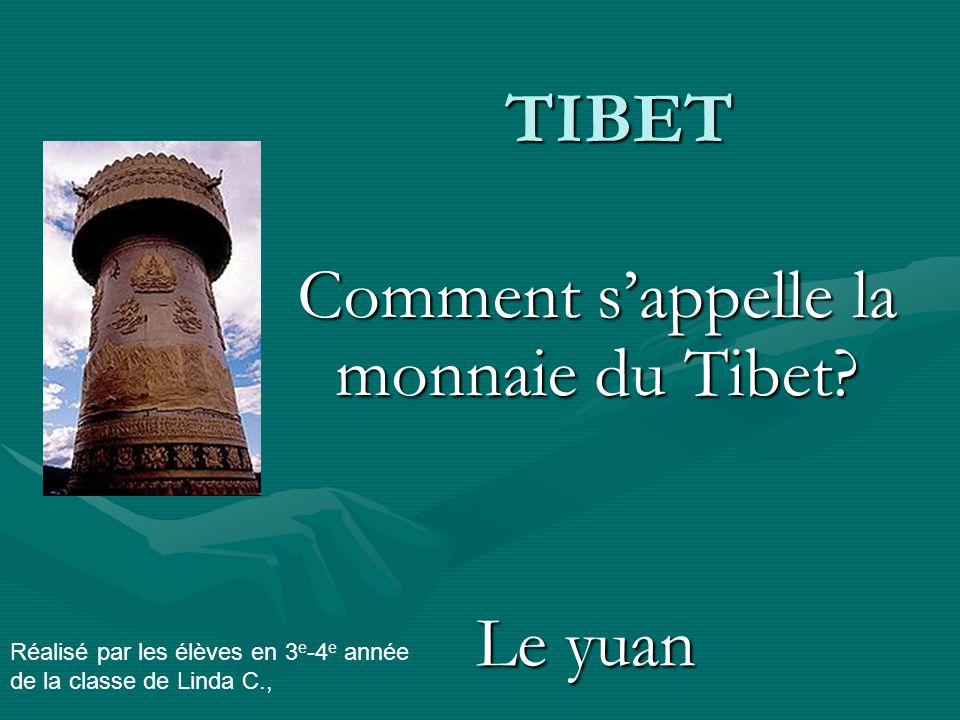 TIBET Comment s'appelle la monnaie du Tibet.