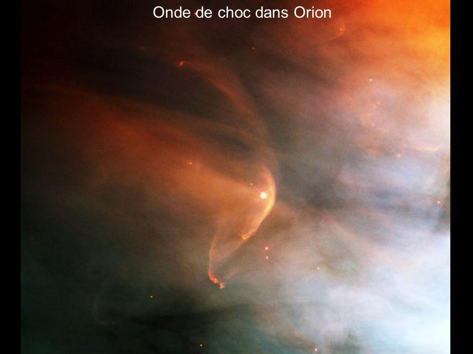 Onde de choc dans Orion