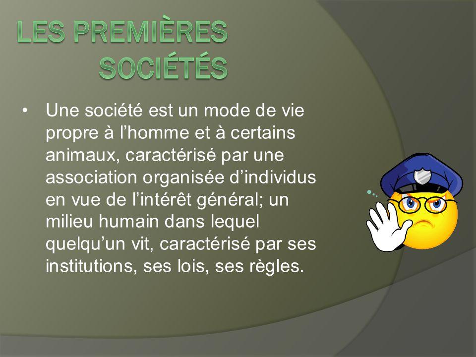 Une société est un mode de vie propre à l'homme et à certains animaux, caractérisé par une association organisée d'individus en vue de l'intérêt génér