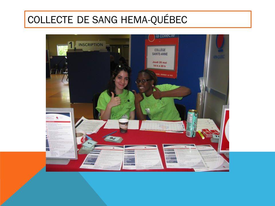 COLLECTE DE SANG HEMA-QUÉBEC