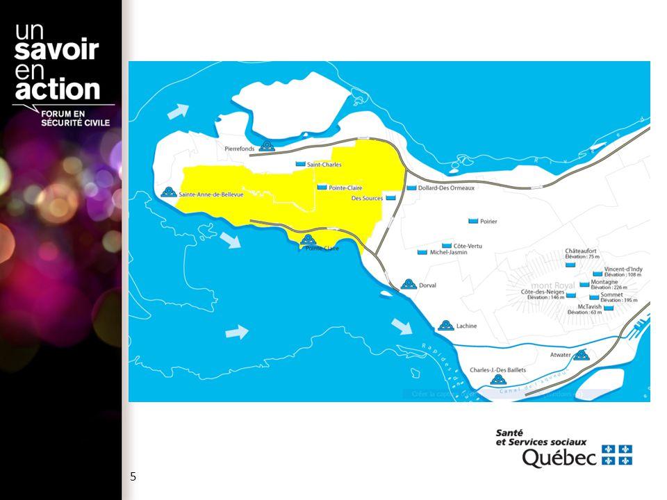 Le 14 octobre 2011 :  Le surintendant de l usine de traitement de l eau potable de Pointe-Claire contacte l'intervenant de garde en santé environnementale de la Direction de santé publique pour l'informer Taux d azote ammoniacal anormalement élevé dans l'eau potable (valeur de 0,44 mg/L, normal <0,2 mg/L) Chute de la teneur de chlore résiduel dans l eau potable Odeur forte dans l'usine d'origine inconnue N ON - CONFORMITÉ DE L ' EAU POTABLE AUX NORMES DE QUALITÉ 6