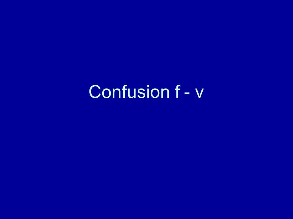 Confusion f - v