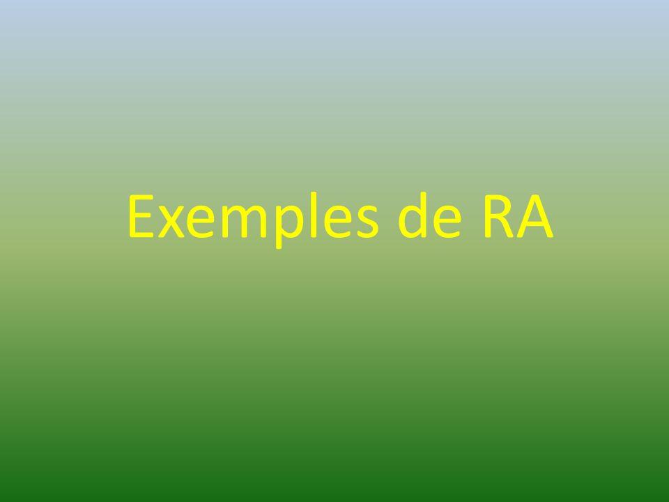 Exemples de RA