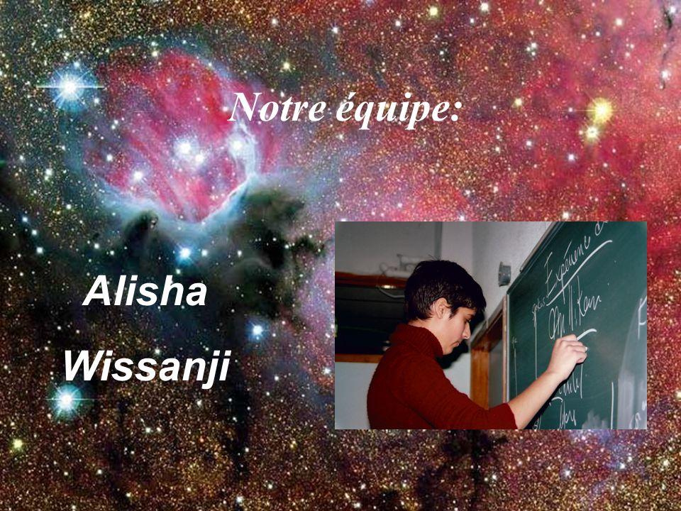 Notre équipe: Alisha Wissanji