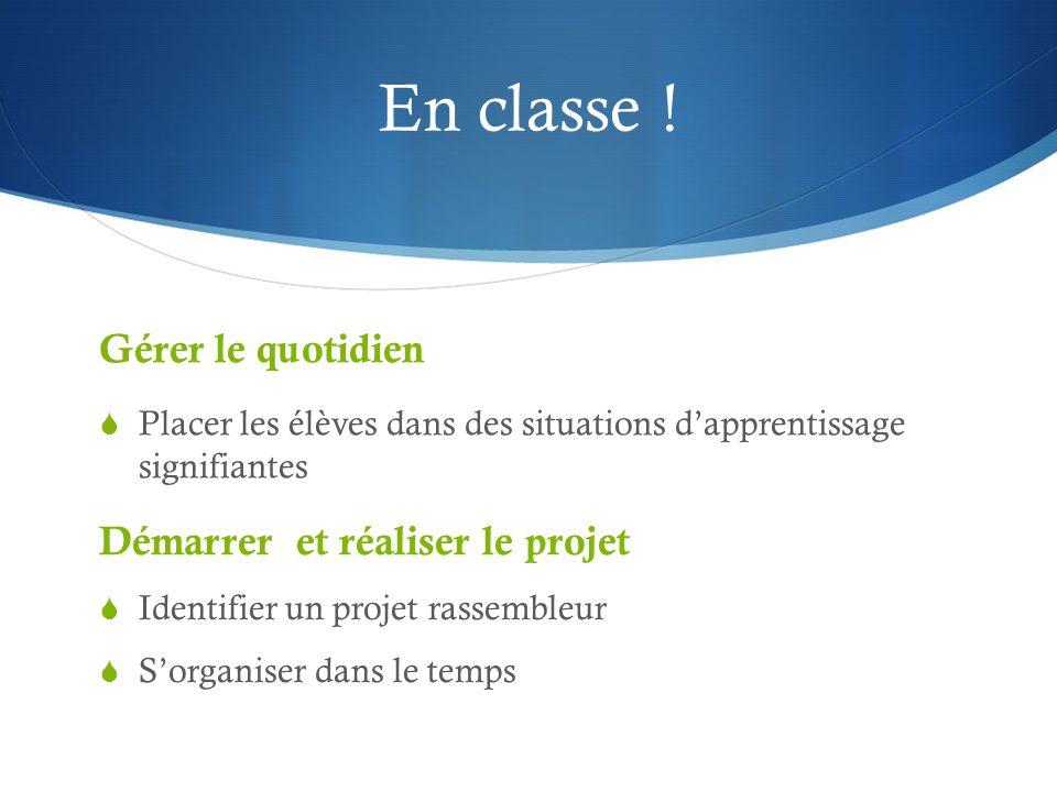 En classe .