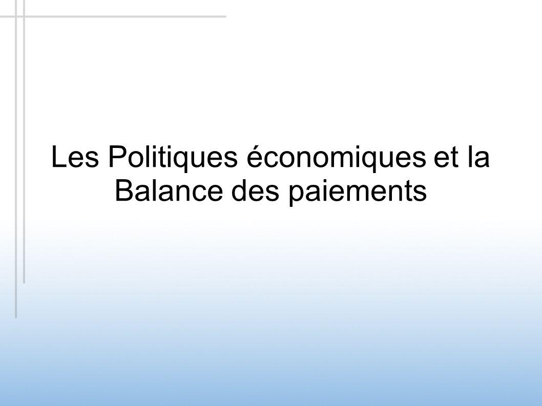 Les Politiques économiques et la Balance des paiements