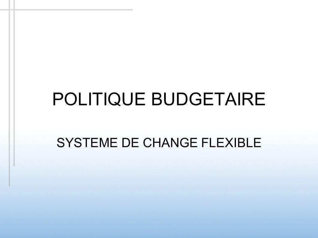 POLITIQUE BUDGETAIRE SYSTEME DE CHANGE FLEXIBLE