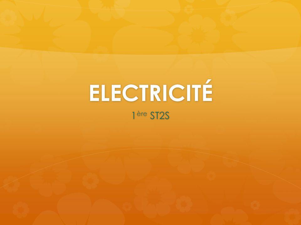 ELECTRICITÉ 1 ère ST2S