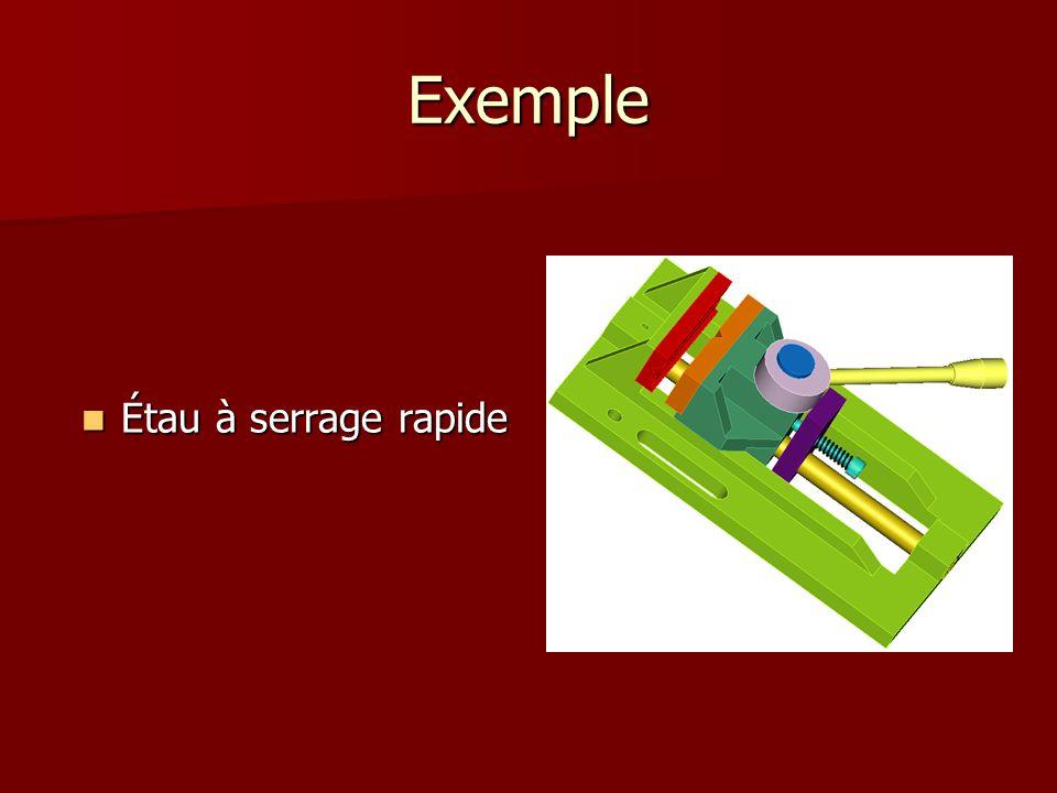 Exemple Étau à serrage rapide Étau à serrage rapide