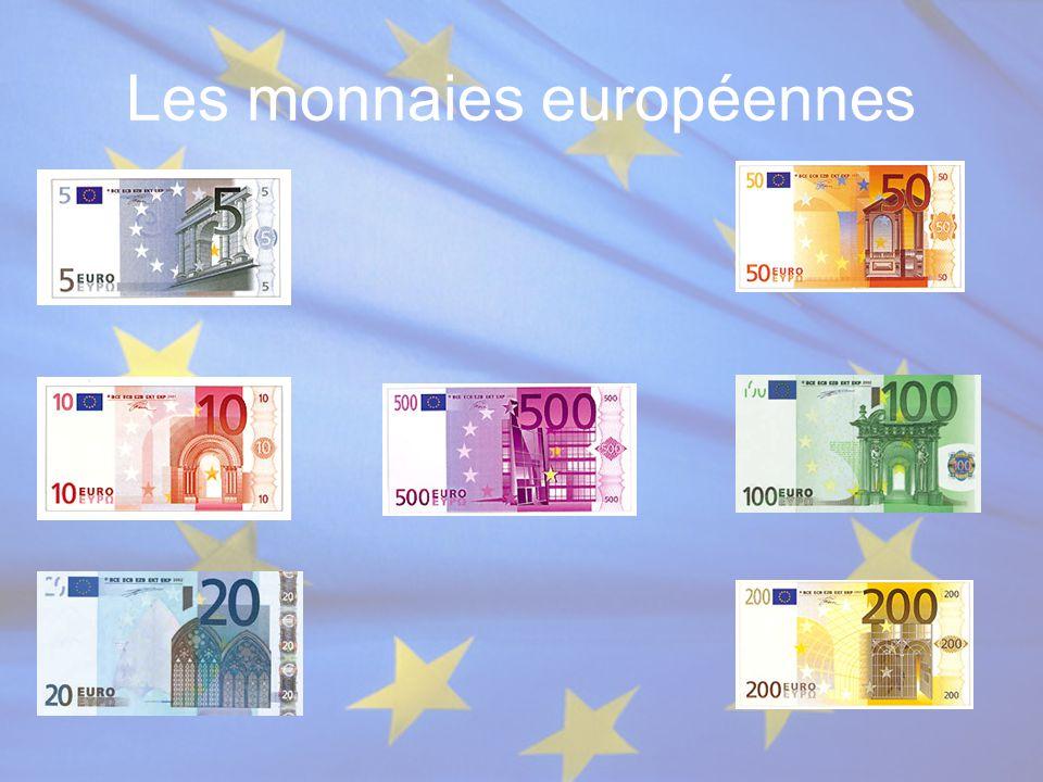 Les monnaies européennes