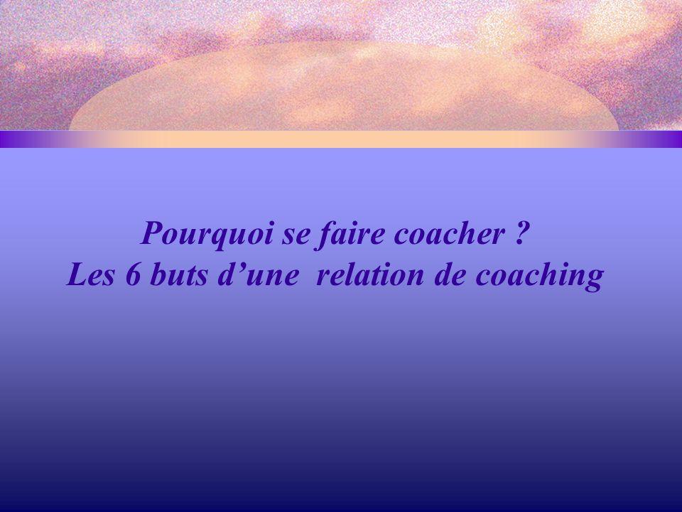 Pourquoi se faire coacher ? Les 6 buts d'une relation de coaching