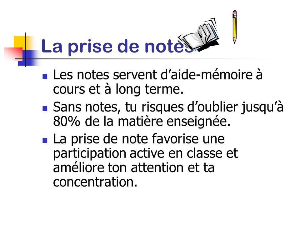 Conseils pour mieux écouter en classe Bien choisir sa place Se préparer avant le cours: relire les notes précédentes faire les lectures et exercices a