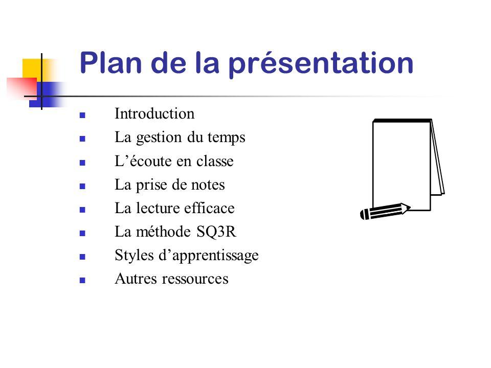 Méthode d'étude Présentation préparée par Les Services aux étudiantes et étudiants