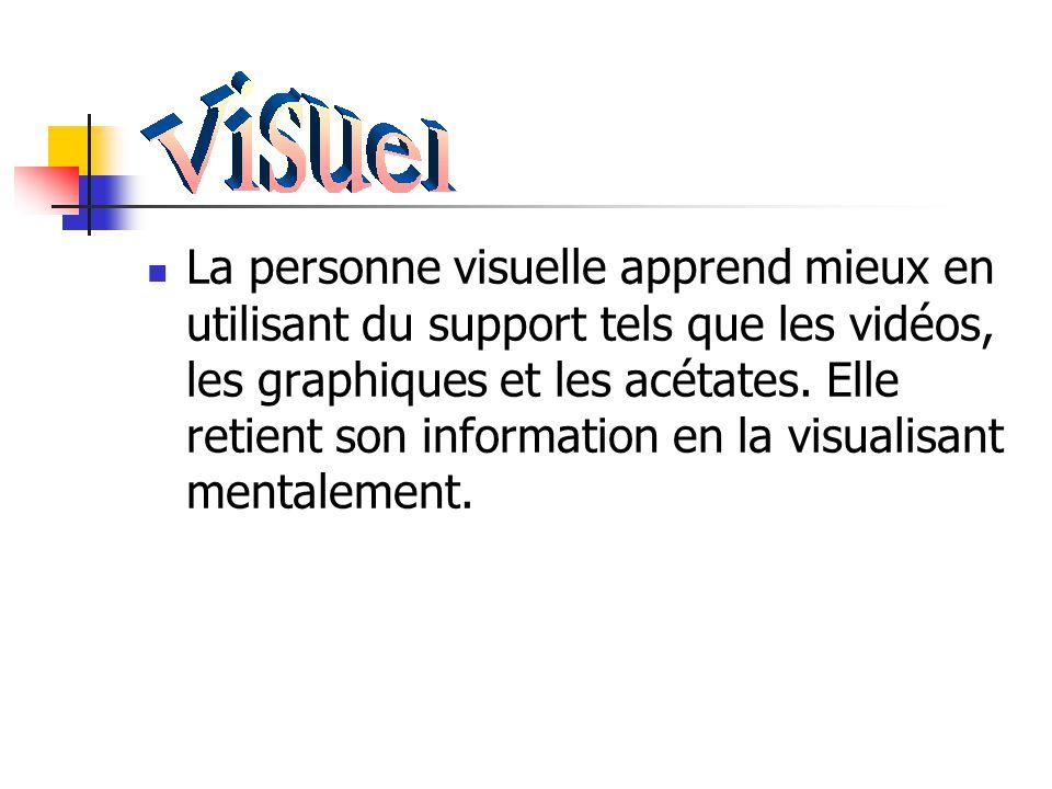Styles d'apprentissage Visuel, auditif, kinesthésique Le concept VAK (visuel, auditif, kinesthésique) repose sur le principe que nous captons les info
