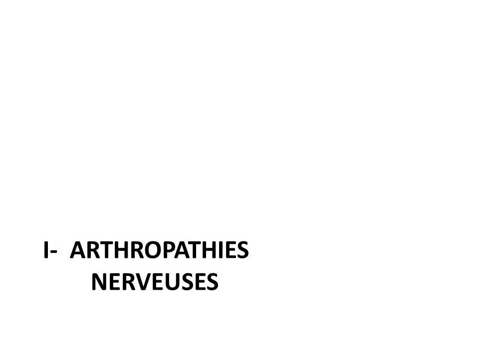 Pathogénie une perturbation neurovégétative liée aux lésions du système sympathique provoquerait des troubles vasomoteurs à l origine d anomalies de la trophicité articulaire et de l hyper- résorption ostéoclastique La lésion nerveuse originelle entraîne une anesthésie articulaire, elle-même responsable des arthropathies, par la répétition de micro-traumatismes et traumatismes articulaires qu elle autorise