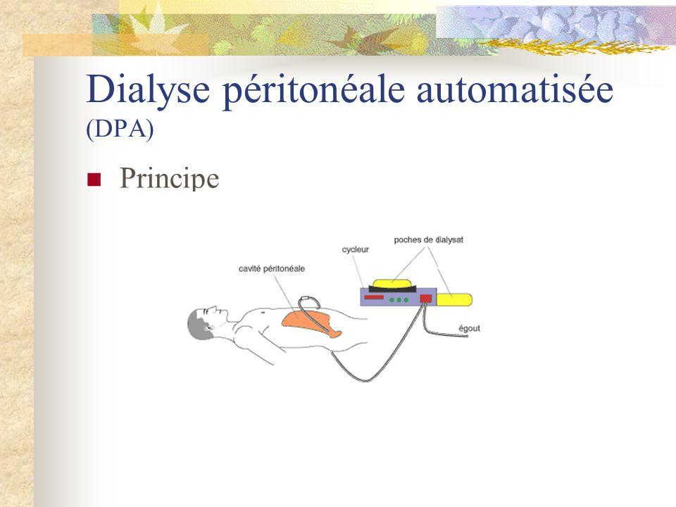 Dialyse péritonéale automatisée (DPA) Principe