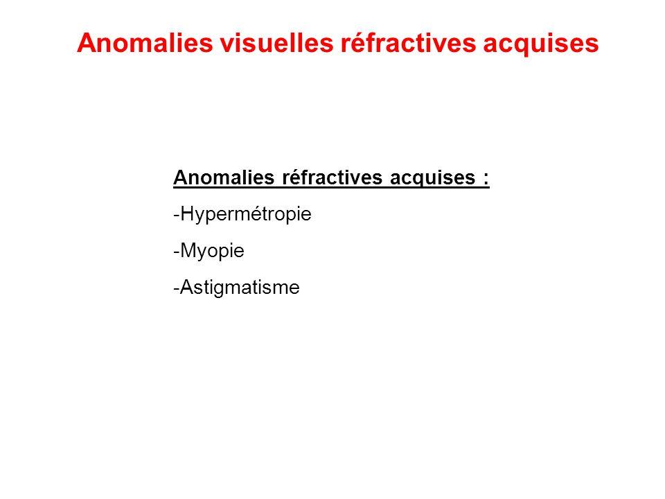 Il existe des appareils miniaturisés portatifs pour les bébés Anomalies visuelles réfractives acquises