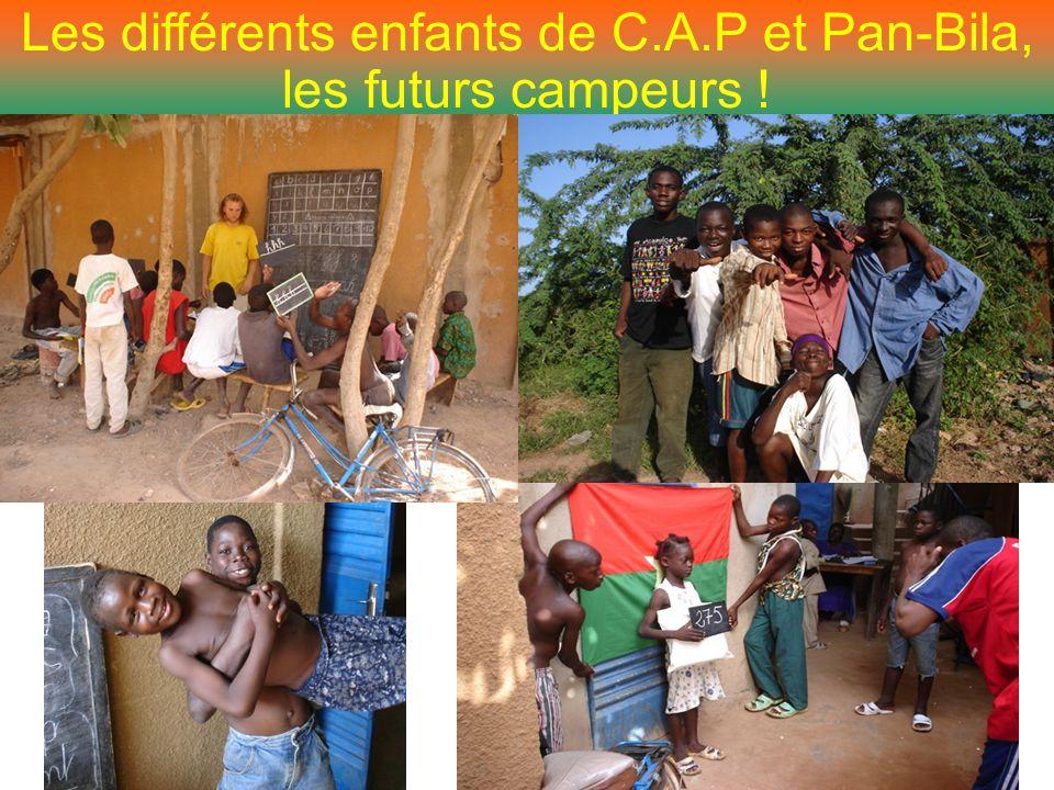 Les différents enfants de C.A.P et Pan-Bila, les futurs campeurs !