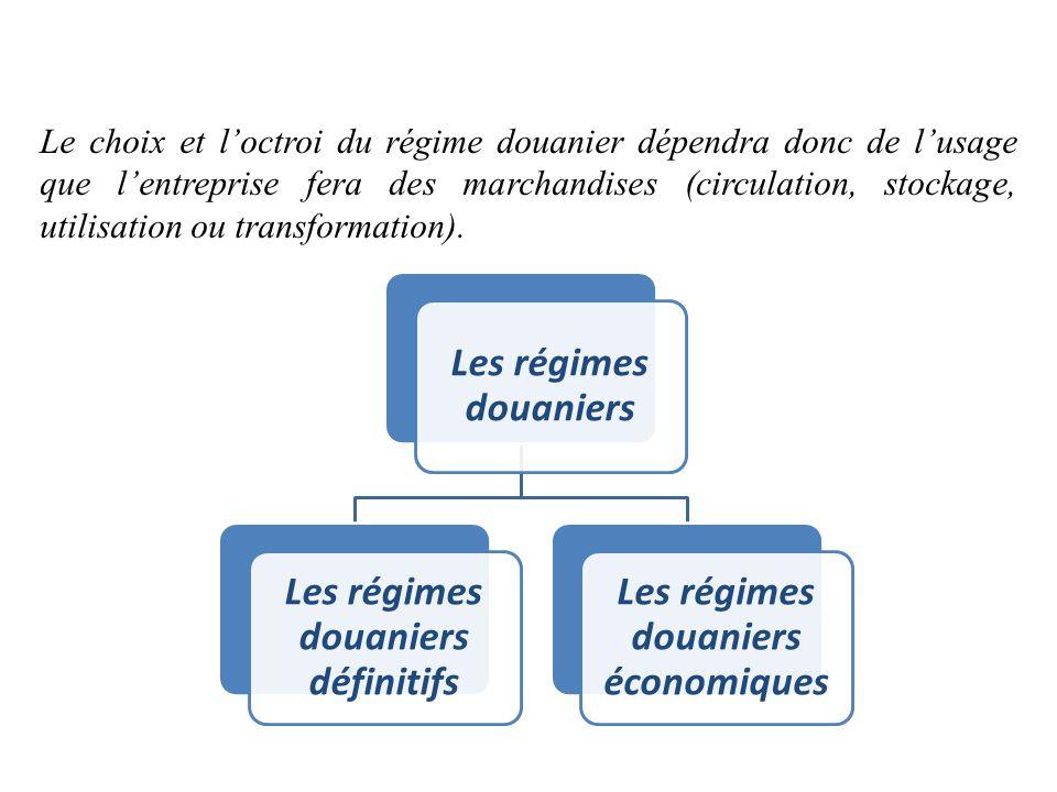 Le choix et l'octroi du régime douanier dépendra donc de l'usage que l'entreprise fera des marchandises (circulation, stockage, utilisation ou transfo