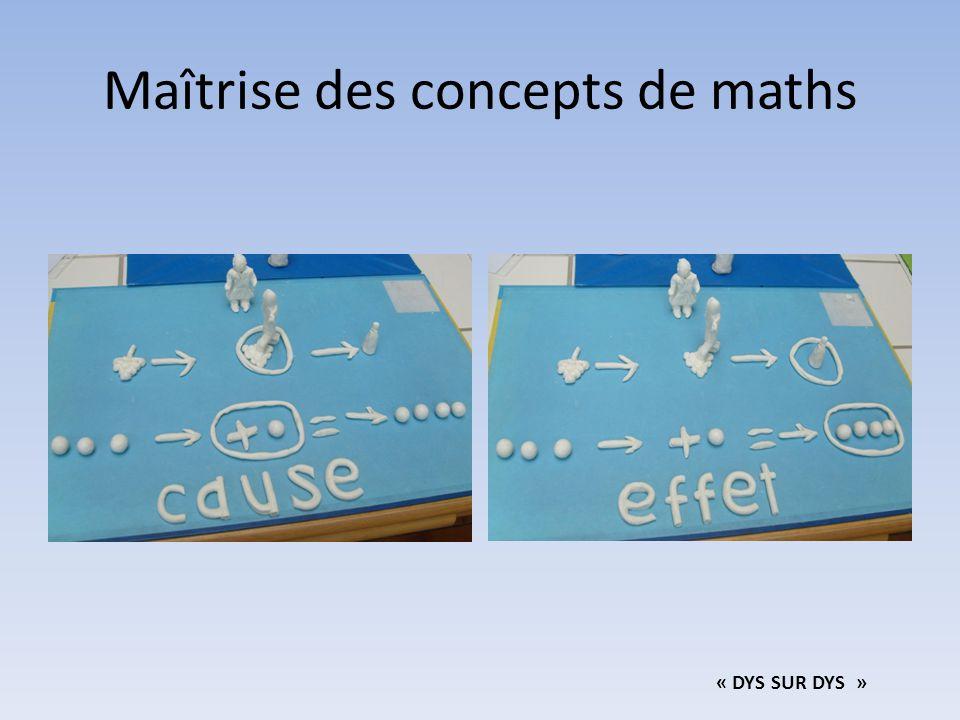 Maîtrise des concepts de maths « DYS SUR DYS »