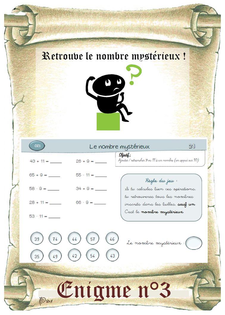 Enigme n°3 Retrouve le nombre mystérieux !