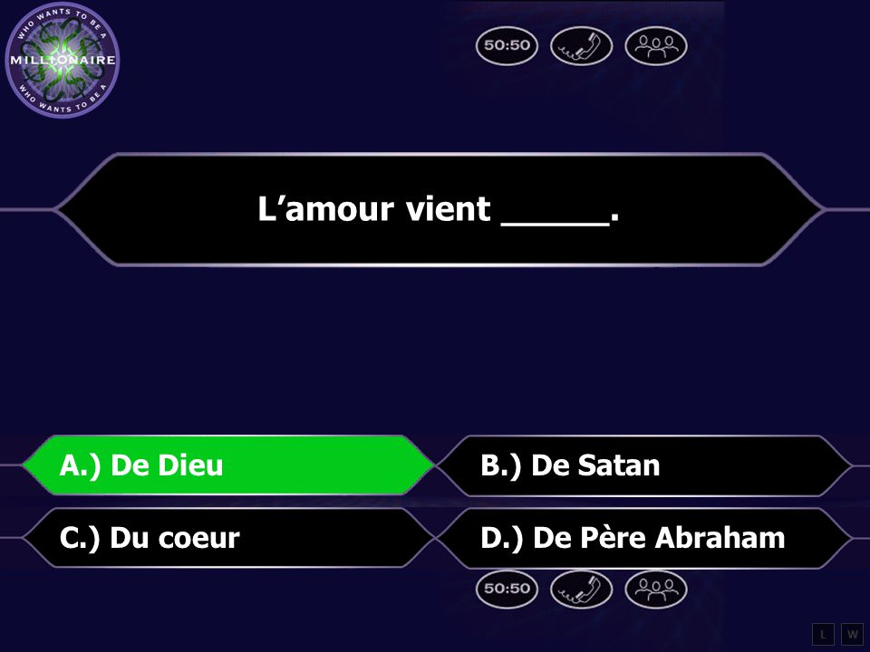 Voici la Question #4