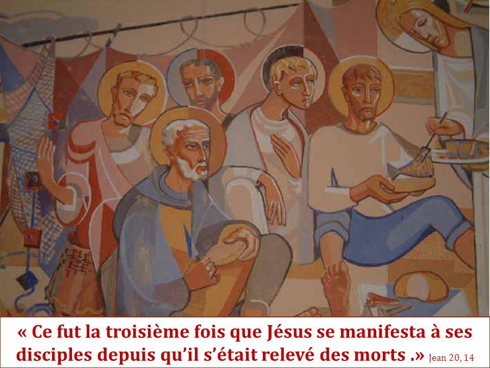 « Ce fut la troisième fois que Jésus se manifesta à ses disciples depuis qu'il s'était relevé des morts.» Jean 20, 14