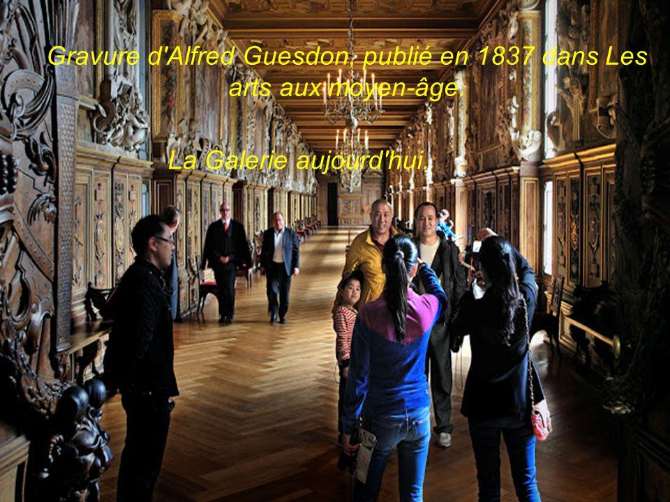 François 1er faisant visiter sa galerie, peinture par Isidore Patrois et une gravure représentant de Giovanni Battista di Jacopo, dit Le Rosso.Le Ross