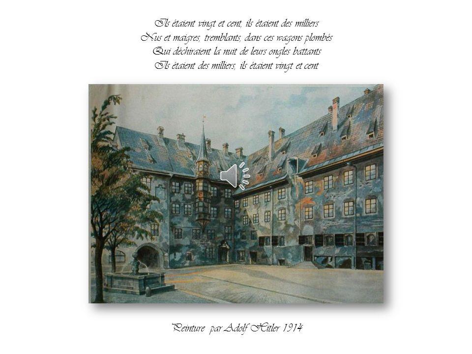 La personne qui a peint ces tableaux a voulu entrer à l'Académie Viennoise des Beaux-arts en 1907 et devenir artiste. S'il avait été accepté par l'Aca