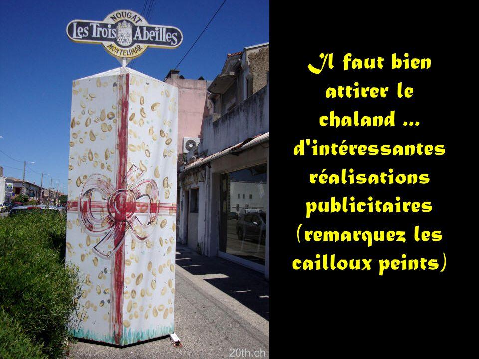 Superbe fresque sur un pignon de la ville de Loriol.