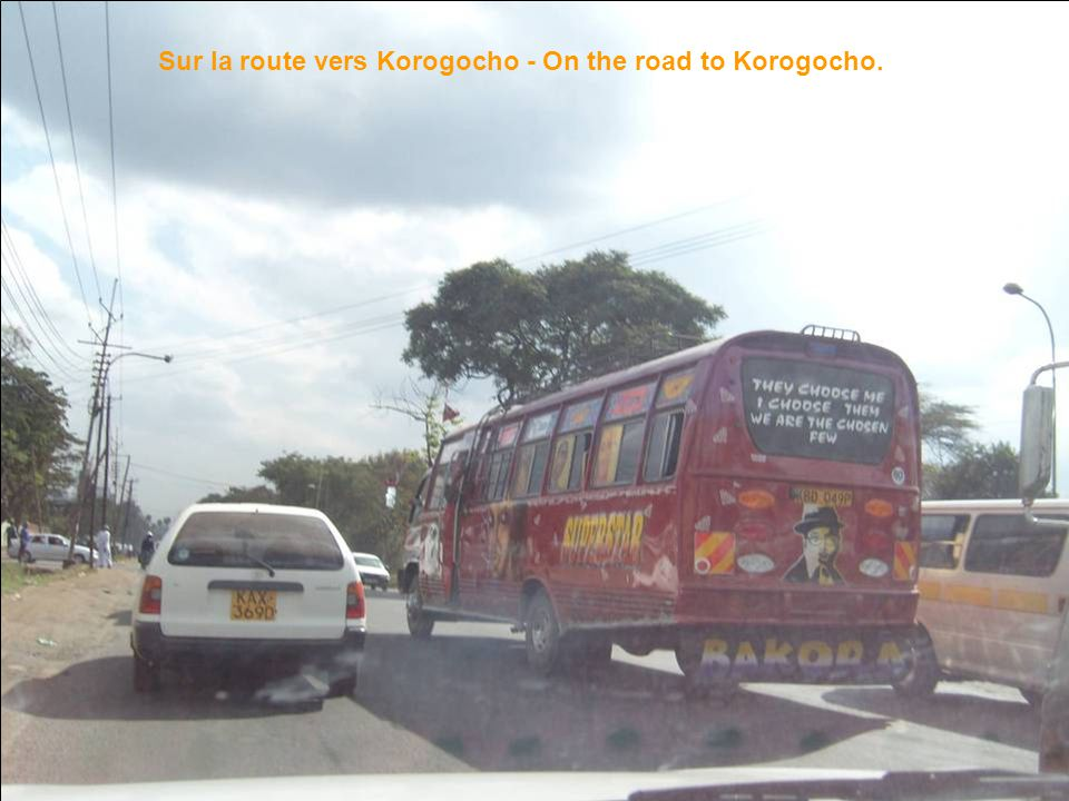 Sur la route vers Korogocho - On the road to Korogocho.