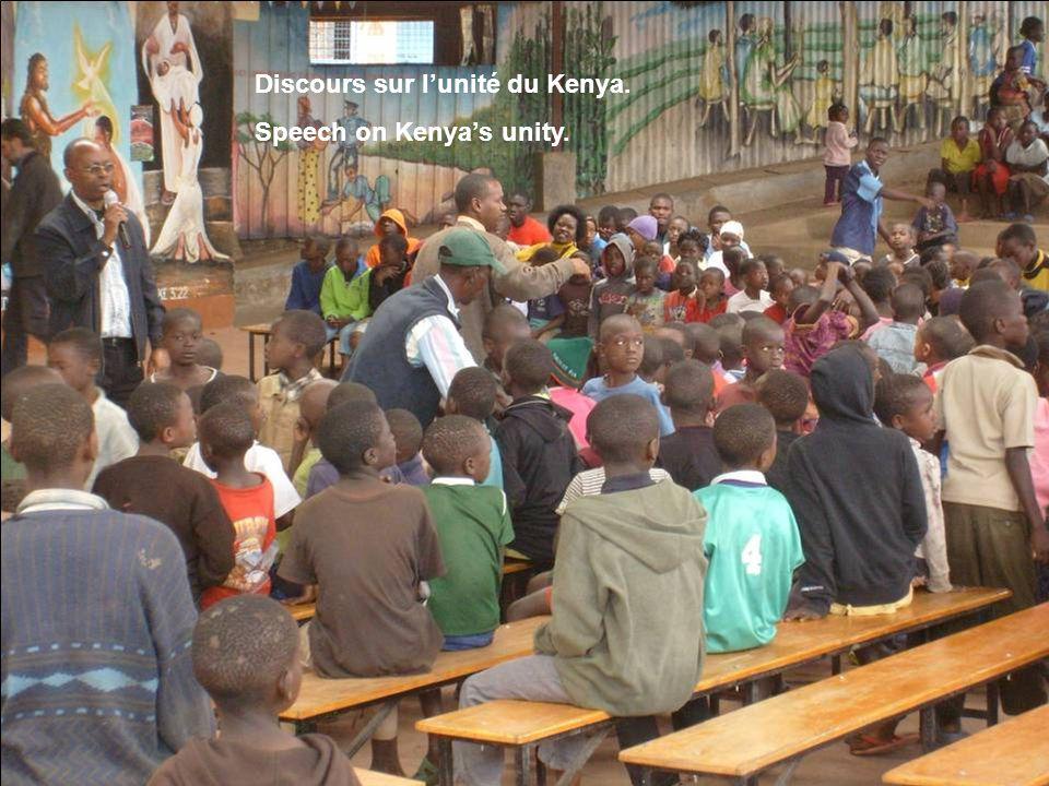 Discours sur l'unité du Kenya. Speech on Kenya's unity.