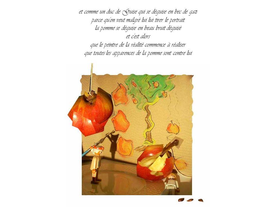 elle ne se laisse pas faire la pomme elle a son mot à dire et plusieurs tours dans son sac de pomme la pomme et la voilà qui tourne dans une assiette