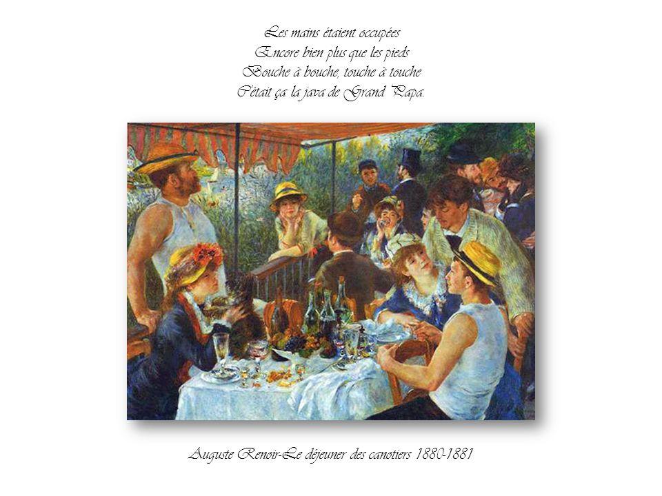 Oh dit donc ce que c'était chouette Le samedi soir au bal musette Les gambilles qui frétillent Et le rêve dans les tibias Auguste Renoir-Le bal du mou