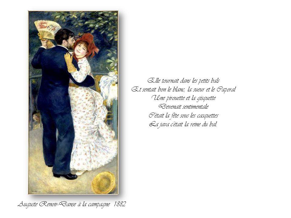 Les mains étaient occupées Encore bien plus que les pieds Bouche à bouche, touche à touche C'était ça la java de Grand Papa. Auguste Renoir-Le déjeune