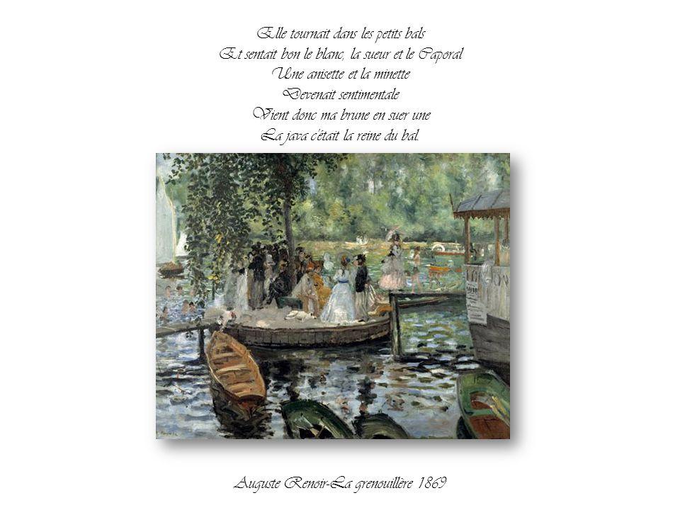 Mais si t'avais la cuillère Un petit peu trop familière Une claque elle te saque C'était ça la java de Grand Papa. Auguste Renoir-Danse à la ville 188