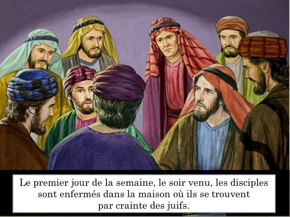 La paix soit avec vous ! Jésus vient au milieu d eux et leur dit :