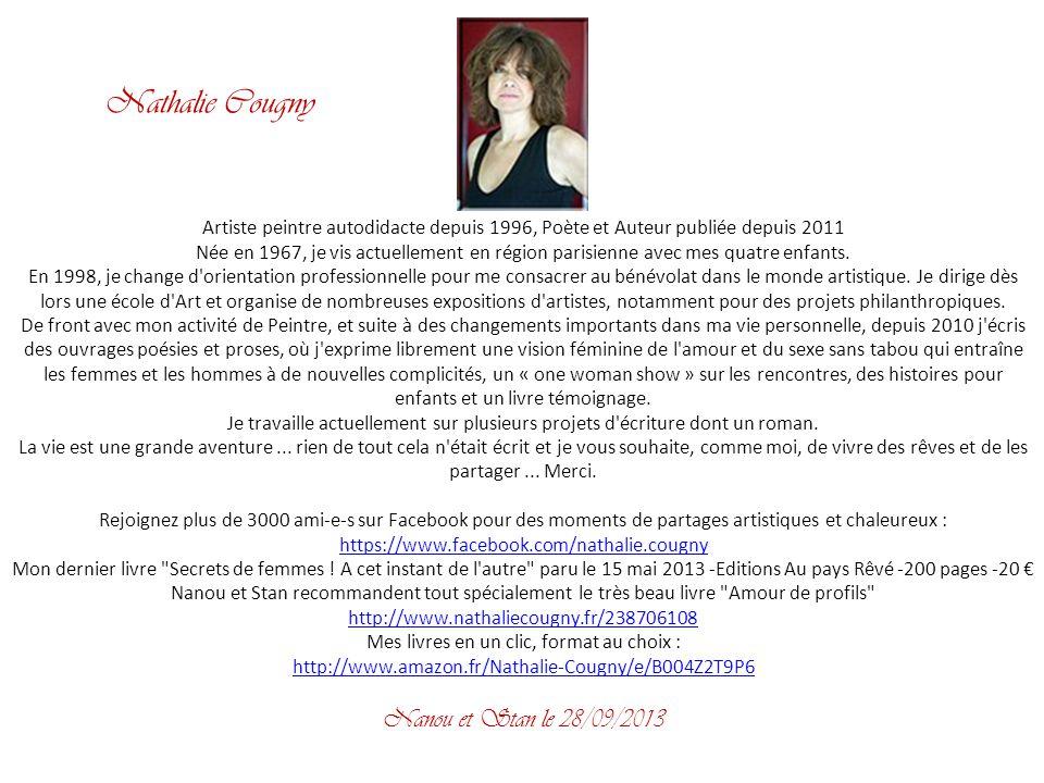Artiste peintre autodidacte depuis 1996, Poète et Auteur publiée depuis 2011 Née en 1967, je vis actuellement en région parisienne avec mes quatre enfants.