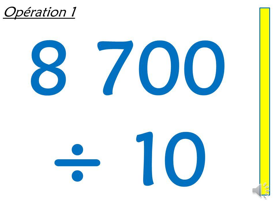Multiplier ou diviser un entier par 10, 100, 1 000 Mathématiques – Calcul mental  Entraînement n° 6