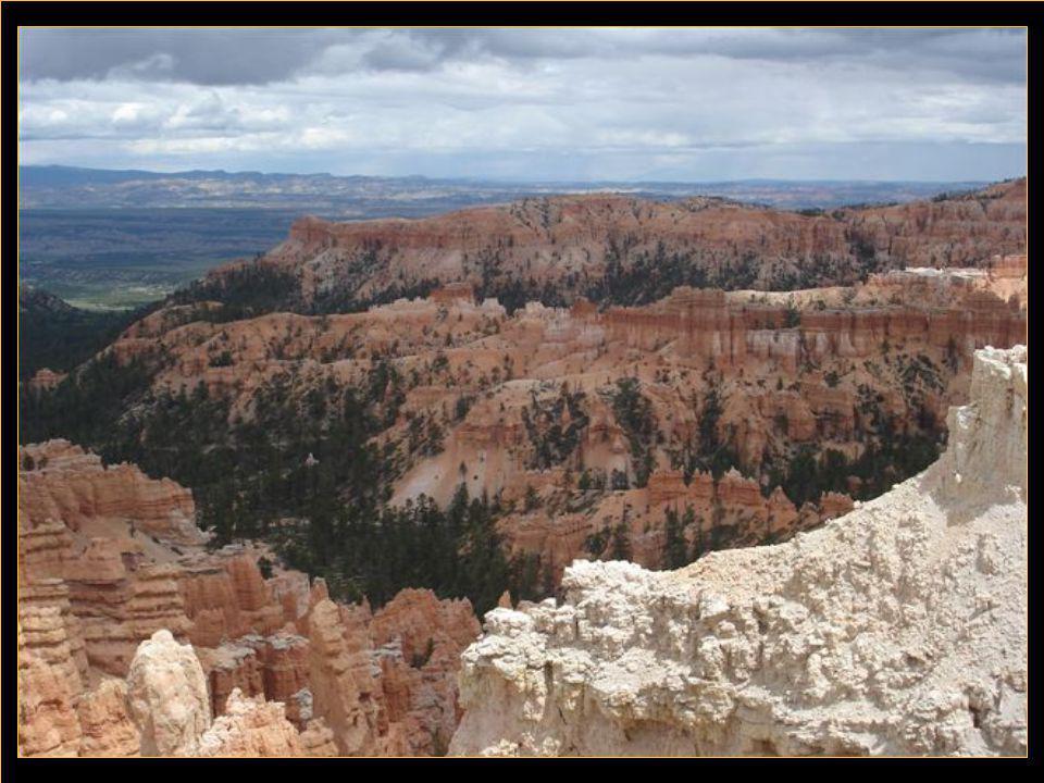 Brice Canyon situé dans l'Utah est un petit parc mais d'une beauté à vous couper le souffle avec ses rochers aux formes si différentes que c'est parfois de la dentelle de pierre.