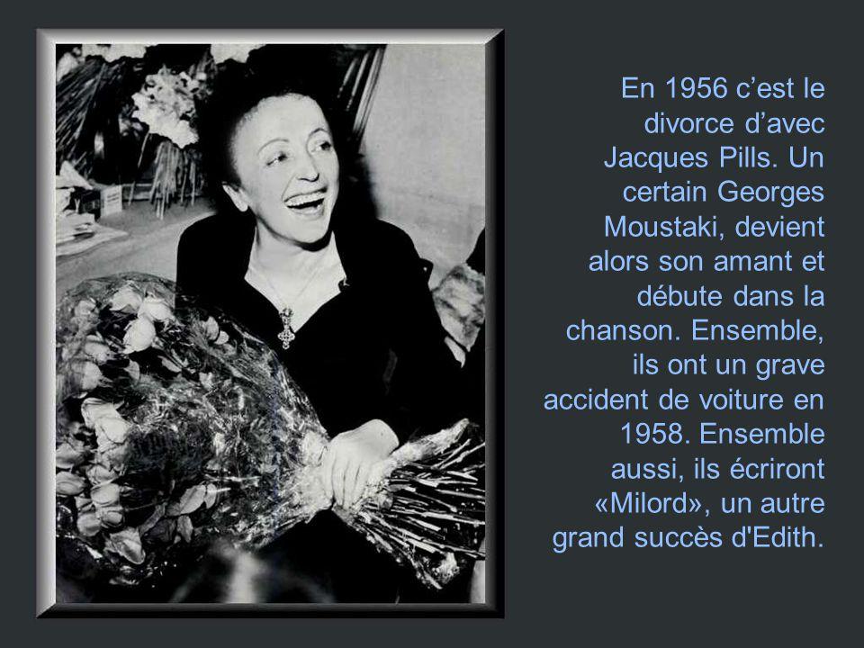 En 1956 c'est le divorce d'avec Jacques Pills. Un certain Georges Moustaki, devient alors son amant et débute dans la chanson. Ensemble, ils ont un gr