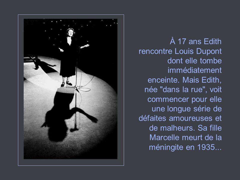 De retour à Paris en 1951, Édith travaille à une comédie musicale, «La p tite Lili», avec Eddie Constantine et Robert Lamoureux.